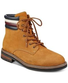Tommy Hilfiger Men's Halle Lace-Up Lug Sole Boots - Brown 11.5