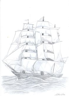 pencil; size: A4 Sailing Ships, A4, Pencil, Collection, To Draw, Sailboat, Tall Ships