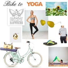 Bike to Yoga on your Peace Bicycle by peace-bicycles on Polyvore featuring American Eagle Outfitters, sanuk and vintage