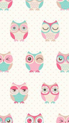 57 new ideas wallpaper iphone cute art Owl Wallpaper Iphone, Cute Owls Wallpaper, Tier Wallpaper, Pastel Wallpaper, Kawaii Wallpaper, Cute Wallpaper Backgrounds, Animal Wallpaper, Cellphone Wallpaper, Disney Wallpaper