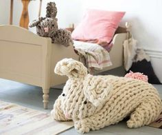 Arm Knit Bunny Pattern Easy DIY Video