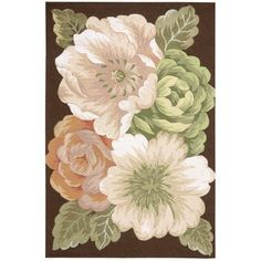 Nourison Fantasy FA06 Bold Floral Contemporary Area Rug, Multicolor