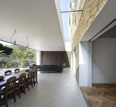 Found Associates - vast extension in Chiswick. Like the slot between the extension and the original house.