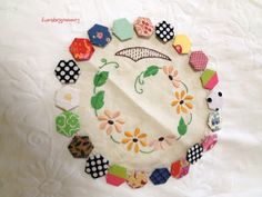 Margaret Sampson George inspiration quilt by Jenny ~ Linen and Raspberry