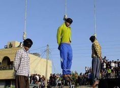 Photo of three men who were hanged in Shiraz on Aug. 3/IranHumanRights