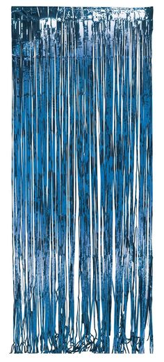 Foil Door Curtain Blue, 8'X3' (6/case)