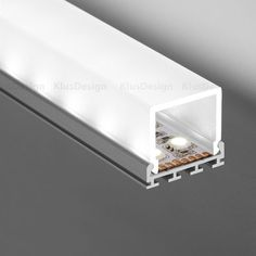 extrusion and lens for LED tape - Klus Cover G-K frosted, REF. Element Lighting, Indirect Lighting, Strip Lighting, House Ceiling Design, Ceiling Light Design, Ceiling Ideas, Led Light Design, Lighting Design, Led Stripes
