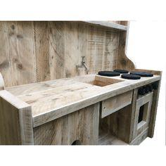Speelkeukentje Berta steigerhout