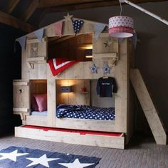 Scaffolding Wooden Kids Bunk Bed