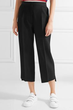 Acne Studios - Iris Cropped Wool-twill Wide-leg Pants - Black - FR40
