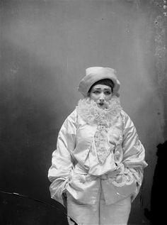 """Sara Bernhardt in """"Pierrot the Assasin"""" photo by Nadar,1893"""