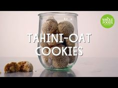 Best Diet and Healthy Recipes - Video : Tahini-Oat Cookies Healthy Recipe Videos, Healthy Recipes, Whole Food Recipes, Dog Food Recipes, Diet Recipes, Maple Cookies, Oat Cookies, Healthy Cookies, Whole Foods Market