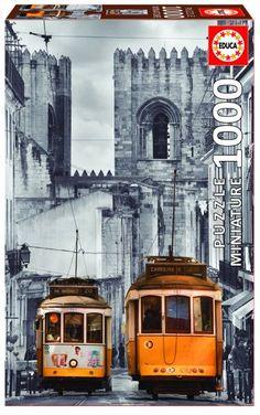 Puzzle EDUCA: Puzzle de 1000 piezas Puzzle Lisboa tranvía amarillo ( Ref: 0000016763 ) en Puzzlemania.net