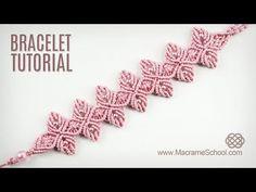 Flower Petal Bracelet Tutorial in Vintage Style | Macrame School - YouTube