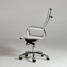 Modrest Harrison Modern White Leatherette Office Chair - Chairs - Office