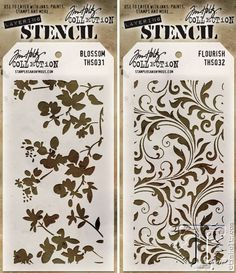 Really stunning stencils CHA 2015 Sneak Peek   Sizzix Alterations   www.timholtz.com