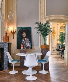 This hip, boho-chic boutique hotel is set in an 18th-century country manor, just outside Haarlem and Amsterdam. Dining Chairs, Dining Table, Unique Hotels, Netherlands, Boutique, 18th Century, Amsterdam, Boho Chic, Furniture
