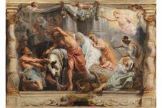 Peter Paul Rubens, The Triumph of the Church. Oil on canvas, 63,5 x 105 cm, Ca. 1625. Madrid, Museo Nacional del Prado