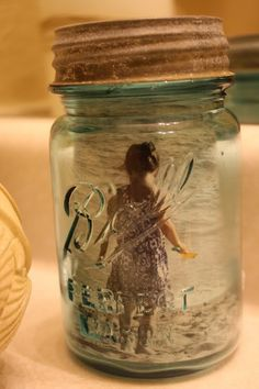 Ball jar with picture inside, love it!