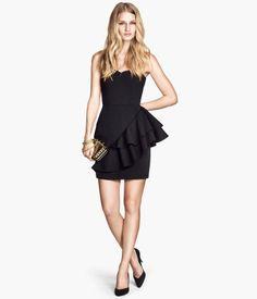 Strapless Black Dress Product Detail | H&M US