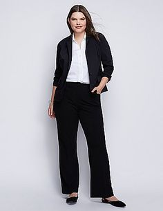 0ff5b04bf32 Lena Trouser with Tighter Tummy Technology in Black Plus Size Suits