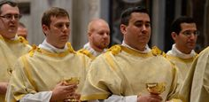 Two seminarians from the Diocese of Charlotte were ordained to the transitional diaconate Oct. 3 as part of a group of 41 men from the Ponti...