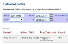 AdClikXpress Withdrawal Proof no 70 ! I am getting paid daily at ACX and here is proof of my latest withdrawal. This is not a scam and I love making money online with Ad Click Xpress. Here is my Withdrawal Proof from AdClickXpress. I get paid daily and I can withdraw daily. http://www.adclickxpress.com/?r=ddtpecko&p=aa