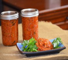 "Ikra is known as eggplant ""caviar"" in Russia, one of my favorite appetizers lathered on fresh-baked bread. It is a traditional blend of eggplant, fresh tomatoes, bell pepper, carrots, onions and spices slow-cooked together to savory perfection."