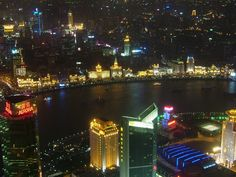 You just can't fail to love The Bund at night in Shanghai - The Paris of The Orient