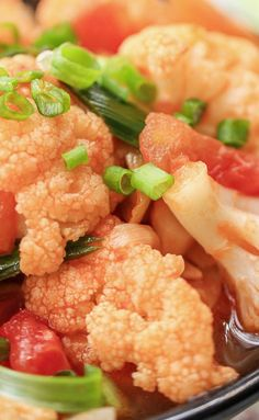 Easy Cauliflower Stir-Fried with Tomatoes