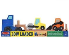 Melissa & Doug Low Loader Wooden Vehicles Play Set.  Bid or Buy Now from the QuiBids Store for $25.99 and receive 3 FREE Bids!