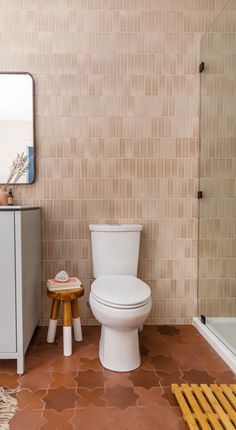 Floor to ceiling tile in this beautiful basement bath, featuring tiles in Sand Dune and Large Star and Cross floor tiles in Antique Bathroom Floor Tiles, Basement Bathroom, Small Bathroom, Tile Floor, Bathroom Ideas, Ikea Bathroom, Bathroom Inspo, Master Bathroom, Terrazzo