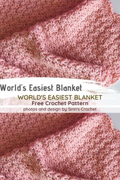 Really Easy To Crochet Baby Blanket Is One Of The Best Baby Shower Gifts You Can Get [Video Tutorial – Free crochet patterns – Baby Crochet Baby Blanket Free Pattern, Crochet Stitches Patterns, Baby Afghan Patterns, Crochet Baby Blanket Beginner, Easy Crochet Baby Blankets, Knitting Baby Blankets, Crocheted Baby Blankets, Free Easy Crochet Patterns, Crotchet Baby Blanket