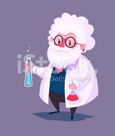 Funny scientist character. Isolated vector illustration royalty-free stock vector art
