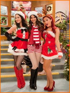 Arianna Grande Victoria Justice and Liz Gillies