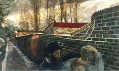 Carel Weight. 'Pre Raphaelite Tragedy'. Oil on canvas. 1950.