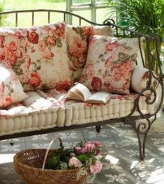 Glorious porch seating. Go with a cup of tea and a good book...