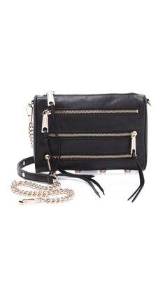0fd9d61f5ab Rebecca Minkoff Mini 5 Zip Bag Cross Purses
