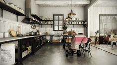 cocina con muebles al estilo rústico