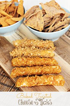 Baked Twisted Cheese Sticks ~ Crunchy Cheese sticks with a coating of Green Giant Chips! #GiantFlavor