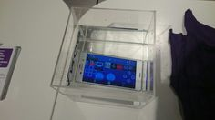 Sony Xperia z3 in demonstration about waterproof ability. At the moment it is the controller of Sony Playstation 4.