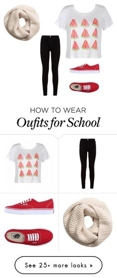 """""""Back to school """" by livelovepop on Polyvore featuring Ally Fashion, H&M, 7 For All Mankind and Vans"""