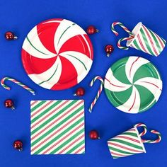 Style your Christmas table with our Peppermint theme party supplies including plates, napkins and candy canes. Christmas Party Themes, Christmas Decorations, Christmas Tree, Table Decorations, Christmas Napkins, Candy Canes, Party Tableware, Decorating Your Home, Peppermint