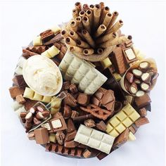 Friday feels and sugar comas coming via Chocolates, Party Platters, Food Platters, Just Desserts, Dessert Recipes, Dessert Platter, Dessert Tables, Grazing Tables, Veggie Tray