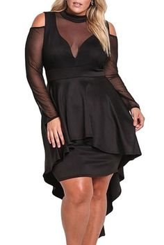 online shopping for Gloria&Sarah Long Sleeve Cold Shoulder Bodycon Plus Size Mesh Mock Neck Party Dress Women from top store. See new offer for Gloria&Sarah Long Sleeve Cold Shoulder Bodycon Plus Size Mesh Mock Neck Party Dress Women Party Dresses For Women, Club Dresses, Sexy Dresses, Peplum Dresses, Trendy Dresses, Club Outfits, Pageant Dresses, Dress Clothes, Fall Dresses