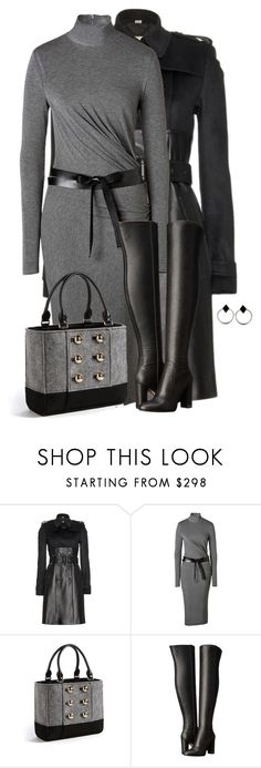"""""""Turtleneck Dress"""" by sherbear1974 ❤ liked on Polyvore featuring Burberry, Donna Karan, Kate Spade, MICHAEL Michael Kors and The 2 Bandits"""