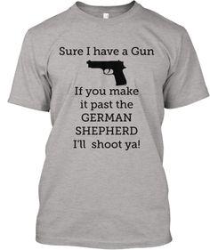 Limited German Shepherd Gun T - Shirt