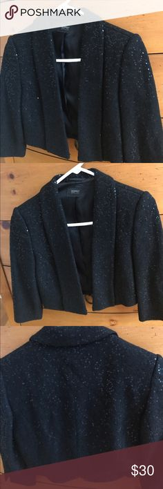 Sequined Esprit Collection Cropped Blazer Awesome sequin cropped blazer, 3/4 sleeves, basically brand new! Esprit Jackets & Coats Blazers