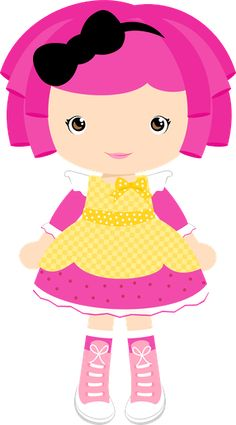 Felt Dolls, Paper Dolls, Cute Images, Cute Pictures, Lalaloopsy Party, Cute Clipart, Girl Clipart, Monster High Dolls, Cute Illustration