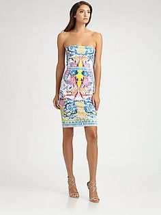 Roberto Cavalli Strapless Nausicaa Print Dress...obsessed with this dress!